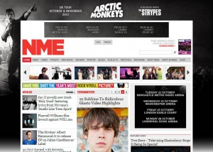 NME.com Homepage Takeover