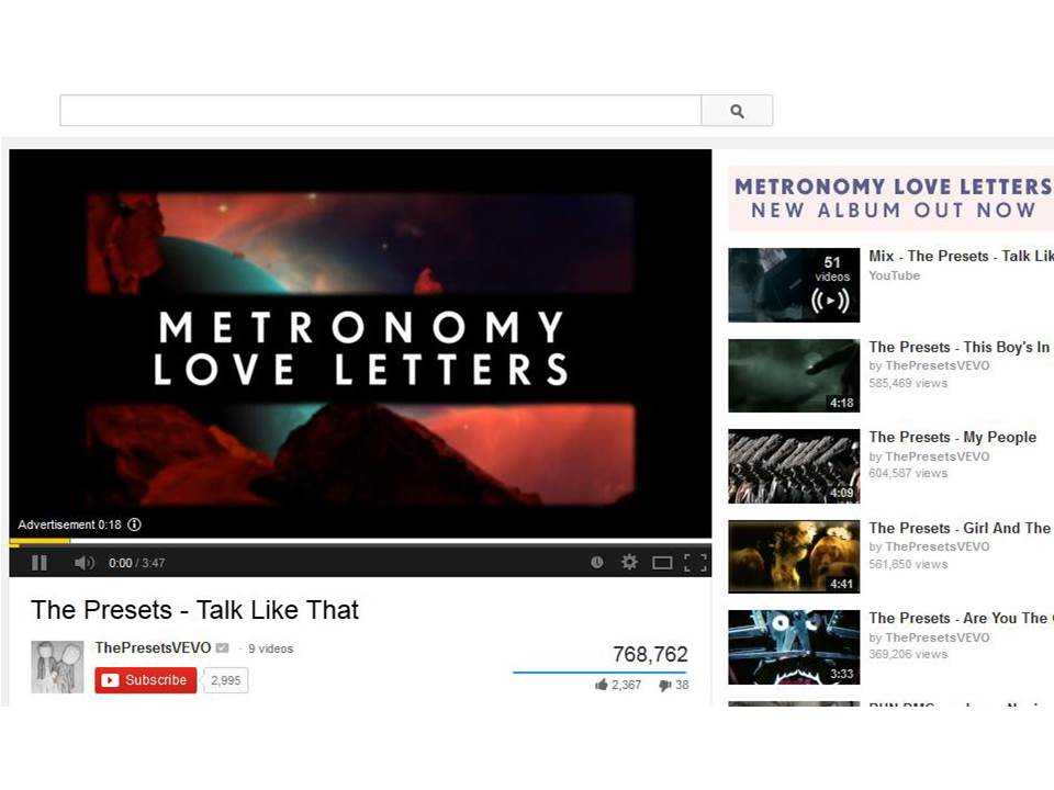 Metronomy Love Letters March 2014 CMS Music Media