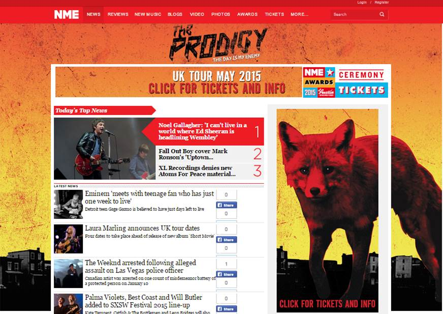 Prodigy NME Takeover